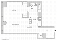 floorplan for 164 Kent Avenue #6D