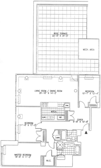 floorplan for 99 Jane Street #9B