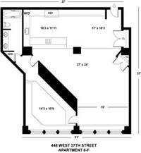 floorplan for 448 West 37th Street #8F