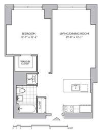 floorplan for 306 Gold Street #28G