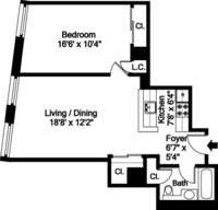 floorplan for 150 Nassau Street #9G