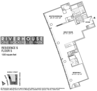 floorplan for 1 River Terrace #5S