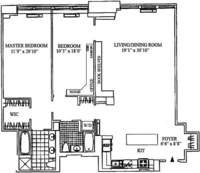 floorplan for 252 Seventh Avenue