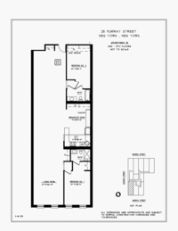 floorplan for 25 Murray Street #4B