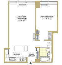 floorplan for 252 Seventh Avenue #5S