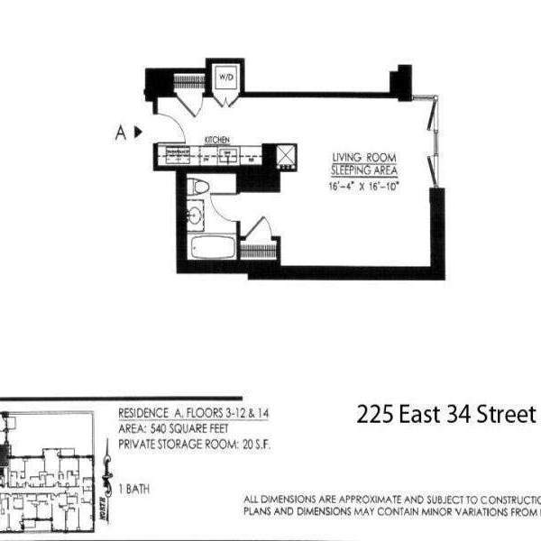 StreetEasy: 225 E 34th St. #14A - Condo Apartment Sale at The Charleston in Murray Hill, Manhattan