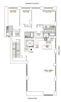 floorplan for 414 Washington Street #5TH