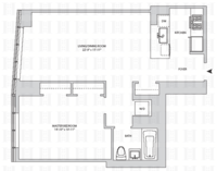 floorplan for 164 Kent Avenue #19C