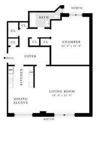 floorplan for 157 West 79th Street #2A