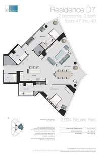 floorplan for 77 - Hudson Street #4904