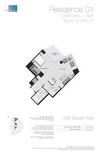 floorplan for 77 - Hudson Street #2504