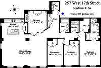 floorplan for 257 West 17th Street #6A