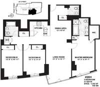 floorplan for 100 Jay Street #19H