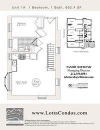 floorplan for 159 West 118th Street #1A