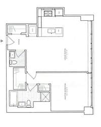 floorplan for 1 River Terr #3F