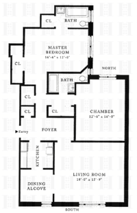 floorplan for 157 West 79th Street #10AE