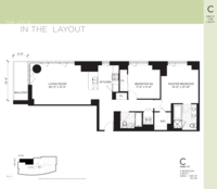 floorplan for 100 Jay Street #28C