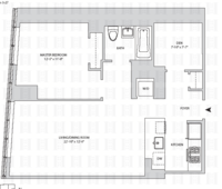 floorplan for 164 Kent Avenue #7B