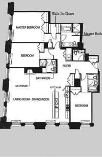 floorplan for 150 Nassau Street #12B