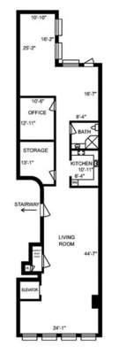 floorplan for 48 Mercer Street #4W