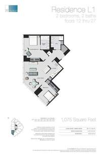 floorplan for 77 - Hudson Street #1411