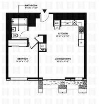 floorplan for 150 Myrtle Avenue #705