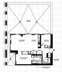 floorplan for 150 Myrtle Avenue #601