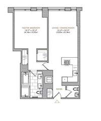 floorplan for 101 Warren Street #930