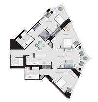 floorplan for 77 Hudson Street #D6