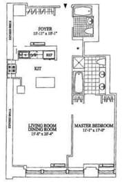 floorplan for 252 Seventh Avenue #12T