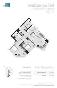 floorplan for 77 - Hudson Street #4407