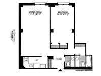 floorplan for 188 E 70th Street #8D