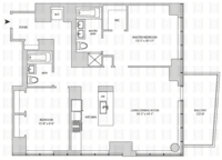 floorplan for 164 Kent Avenue #25M