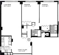 floorplan for 440 East 57th Street #3B