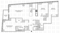 floorplan for 164 Kent Avenue #7K