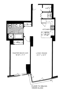 floorplan for 100 Jay Street #23J