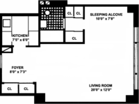 floorplan for 167 East 67th Street #12D