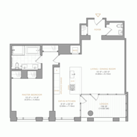 floorplan for 101 Warren Street #1190