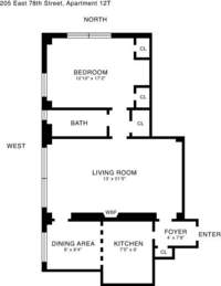 floorplan for 205 East 78th Street #12T