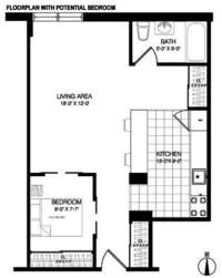 floorplan for 401 East 74th Street #8S