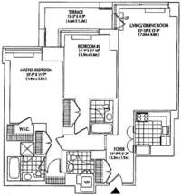 floorplan for 2 Columbus Avenue #2B