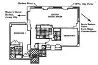 floorplan for 10 West Street #19C