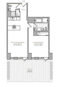 floorplan for 101 Warren Street #500