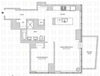 floorplan for 164 Kent Avenue #16G