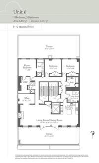 floorplan for 8 Warren Street #6FL