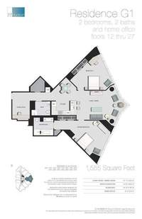 floorplan for 77 - Hudson Street #2707