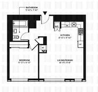 floorplan for 150 Myrtle Avenue #1005