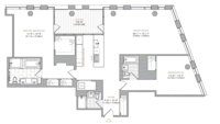 floorplan for 101 Warren Street #1650