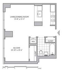 floorplan for 306 Gold Street #7J