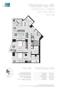 floorplan for 77 - Hudson Street #4601